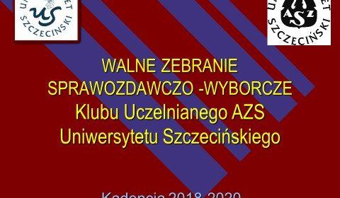 Konferencja Sprawozdawczo-Wyborcza Klubu Uczelnianego AZS Uniwersytetu Szczecińskiego
